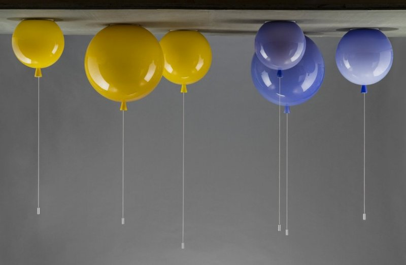 Yellow and purple Memory ceiling lights for Brokis