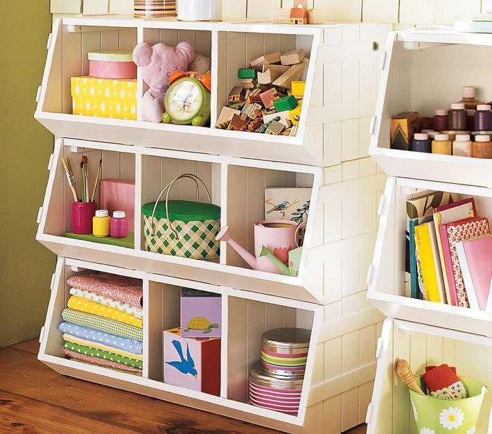 Stack box bins for toy storage