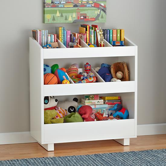 White trolley shelves, via Land of Nod