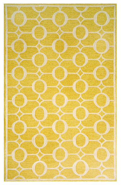 Liora Manne Yellow Arabesque Area Rug, via Macys, US$395
