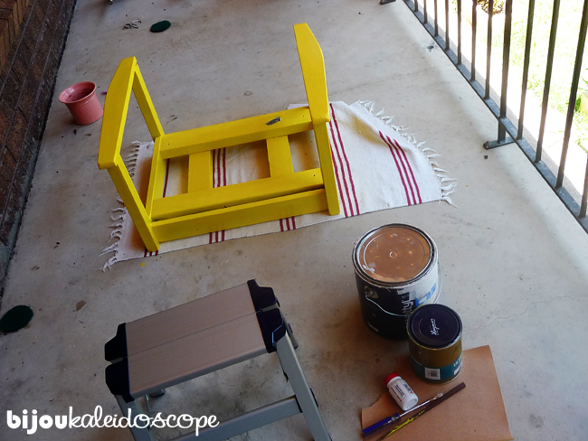 Painting the frame of my vintage wooden office chair