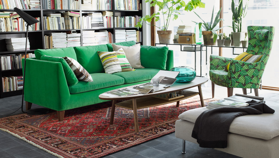 IKEA Stockholm Sofa In Green Velvet