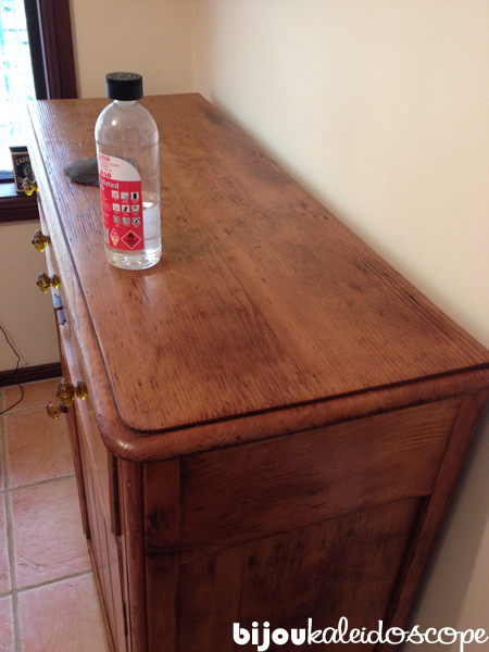 My new antique sideboard after rubbing and buffing
