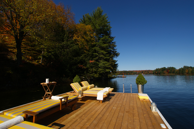 Lakeside dock after makeover - Justin & Colin's Cabin Pressure