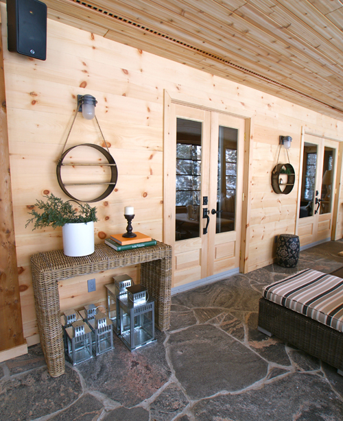 Muskoka room after makeover - Justin & Colin's Cabin Pressure
