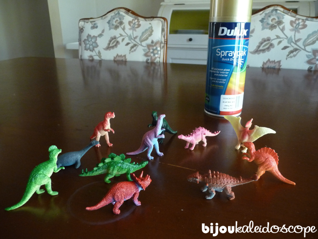 The little plastic dinos I purchased from Dinosaur Corporation Wholesale, US