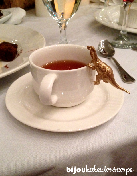 There's a t-rex in my tea! @Photo credits Agnes Turner