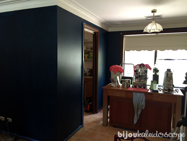 Sneak peek: second coat of Haymes Paints Viking 2448in a corner of our living room