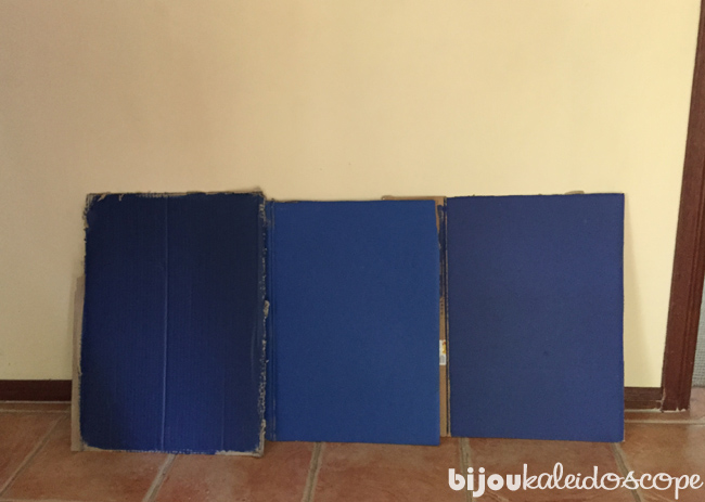 The blues I settled on first; (L-R) Haymes Paints Olympian Blue, Rhapsody and Debonair.