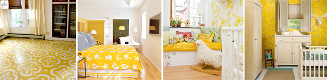 The yellow and white palette for rooms that inspired me