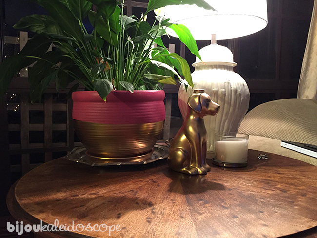 My newly painted pot plant and cute dog vase @bijoukaleidoscope
