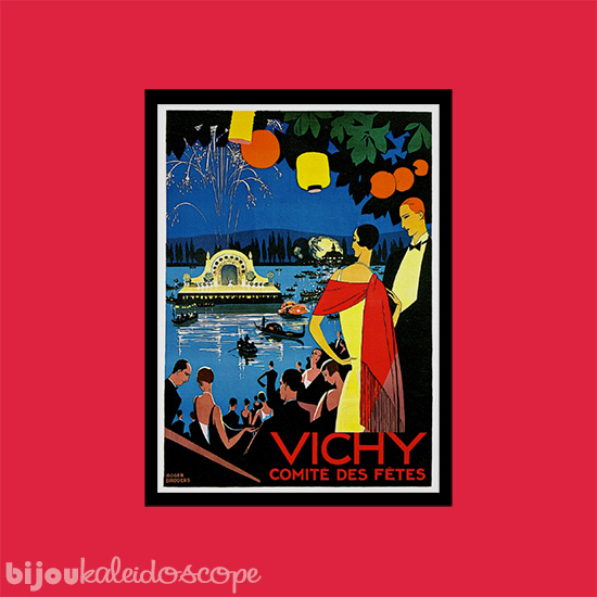 Vichy vintage travel poster against Haymes Paint's Tom's Run