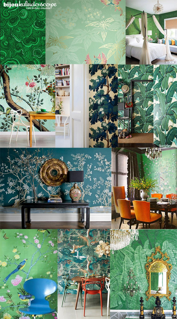 Green wallpapers that I originally wanted for my room @bijoukaleidoscope