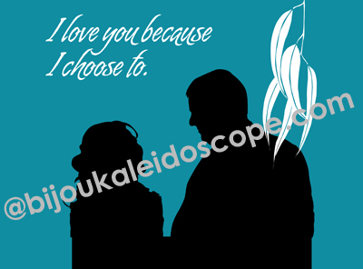 A silhouette of a couple on their wedding day @bijoukaleidoscope