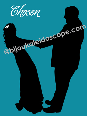 A silhouette of a couple's first dance @bijoukaleidoscope
