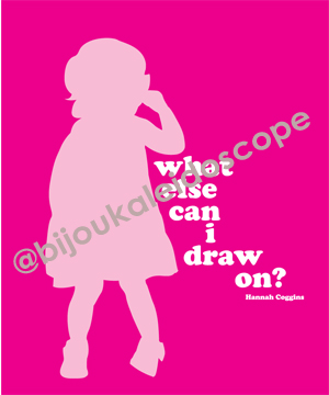 A silhouette of little girl's awkward stance @bijoukaleidoscope