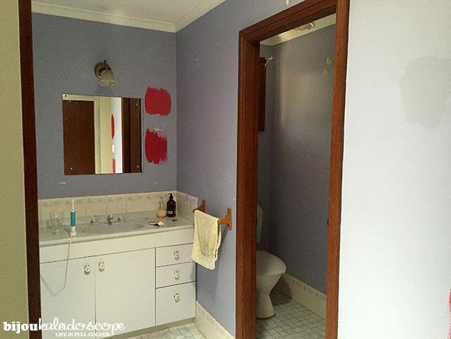 The two paint swatches in the main bathroom @bijoukaleidoscope