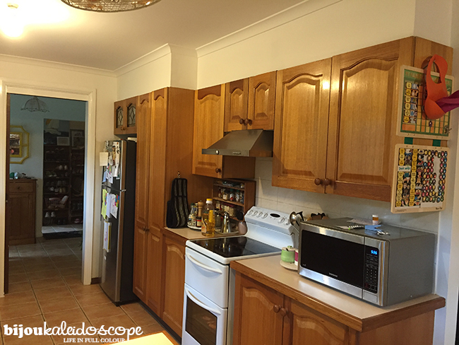My kitchen as of Feb 2016 with new rangehood @bijoukaleidosope