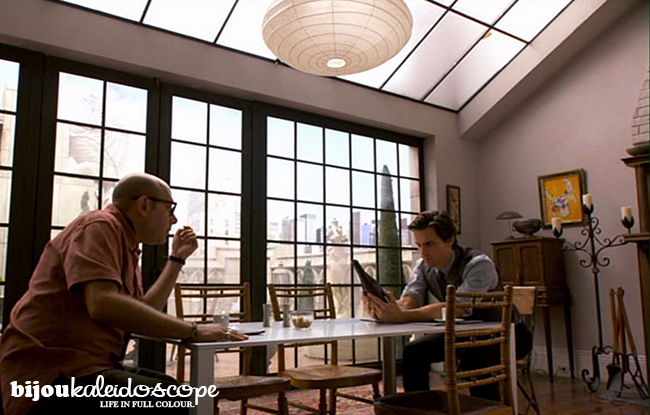 Just after moving in, dining area at Neal Caffrey's apartment @bijoukaleidoscope