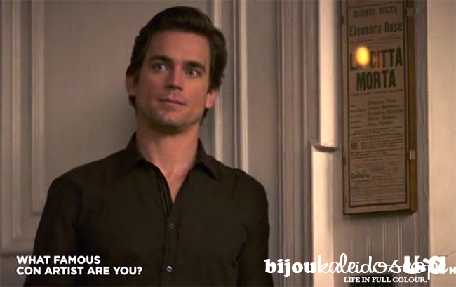 Matt Bomer as Neal Caffrey, with his favourite La Citta Morta plaque