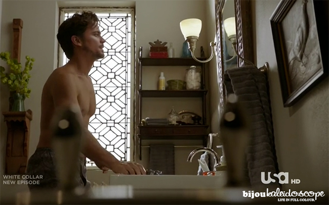 Neal's bathroom, White Collar @bijoukaleidoscope