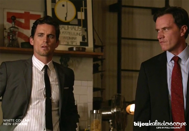 Peter giving Neal the death stare, White Collar @bijoukaleidoscope