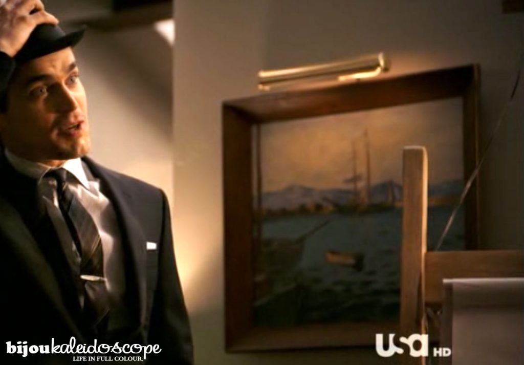 Ship painting on the White Collar set; Neal's apartment