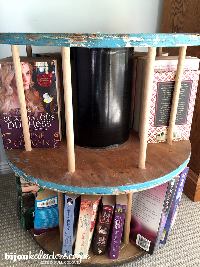 Filling up my cable reel bookcase! @bijoukaleidoscope