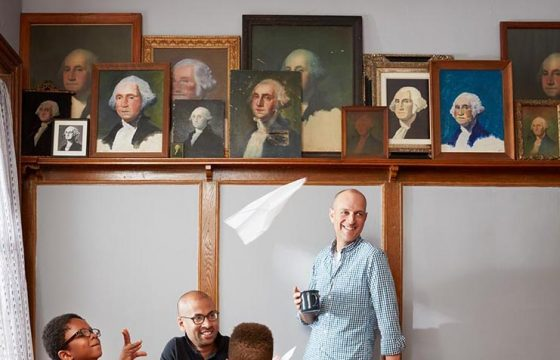 Rumaan Alam and David Land's collection of paintings and prints of George Washington.