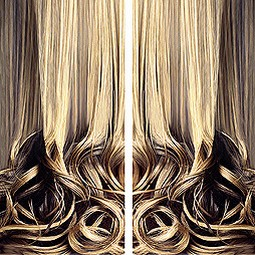 Nicolette Brunklaus curtain of hair