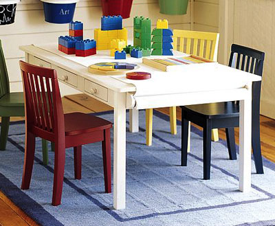 kids table at Pottery Barn