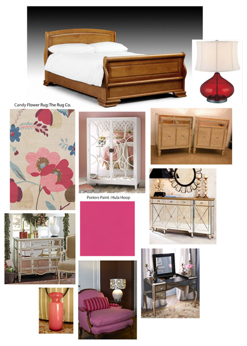 My bedroom with sleigh bed moodboard