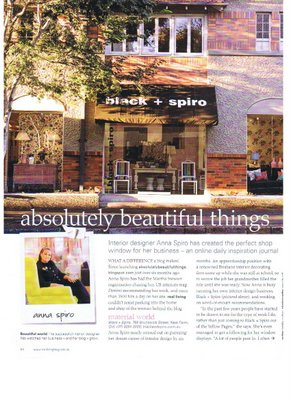 Article on Black and Spiro in Real Living Magazine