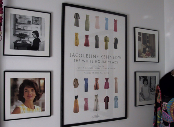 Poster of Jackie Kennedy dresses, as printed and sold by Field Museum in Chicago