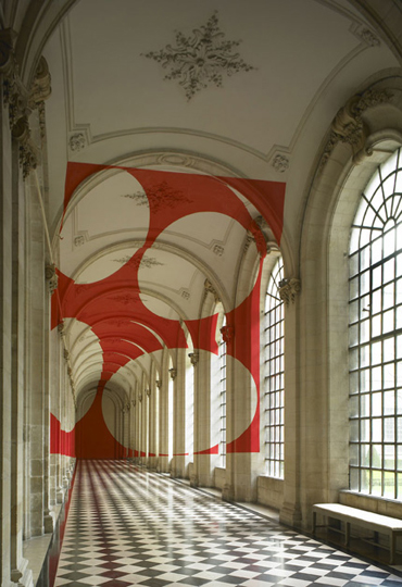 Felice Varini and Georges Rousse's exhibition in Musée des Beaux-Arts in Arras, France.