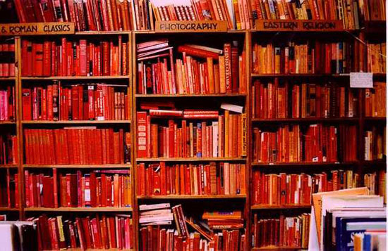 The Adobe Bookshop's red book section