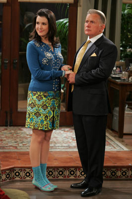 Rose played by Melanie Lynskey in Two and A Half Men