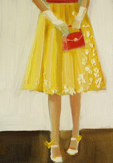 'She Liked To Call Them Her Canary Shoes' by Janet Hills @ Etsy