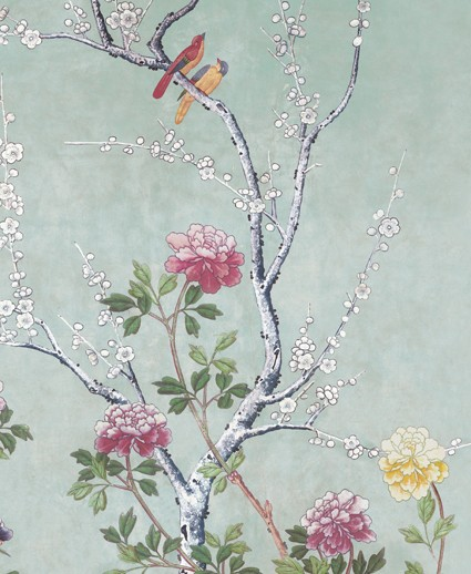 Museum Galleries wrapping paper, the Chinese Blossom Wallpaper