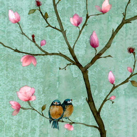 Chris Chun's Magnolia Moment greeting card