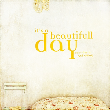 Beautifull day wall decal sticker