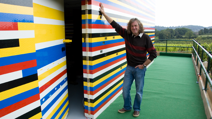 James May at the front door of the Lego house, via Top Gear