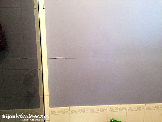Bad paint job in the yucky, dreary main shower room pre-anything @bijoukaleidoscope